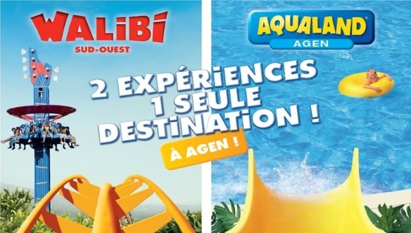 Walibi ! Aqualand ! Plus qu'un parc d'attraction à 1h15 de Duras