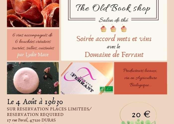image de Soirée accords mets et vins : The Old Bookshop invite le Domaine de Ferrant